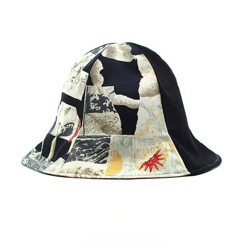 Calf Village Calf Village Handmade Double-sided Hat Customized Sunshade Hooded Hat Neutral Retro Valentine's Day Gift {Ancient Greek Sun God} [H-339] Rare Cubu