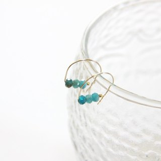 Apatite earrings / Apatite Gemstone 14K GF earring