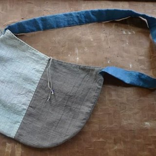 Hand-woven hemp round shoulder bag