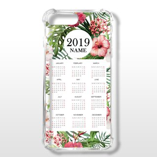 Painted four-corner air cushion anti-drop mobile phone shell customized English name [flower calendar]