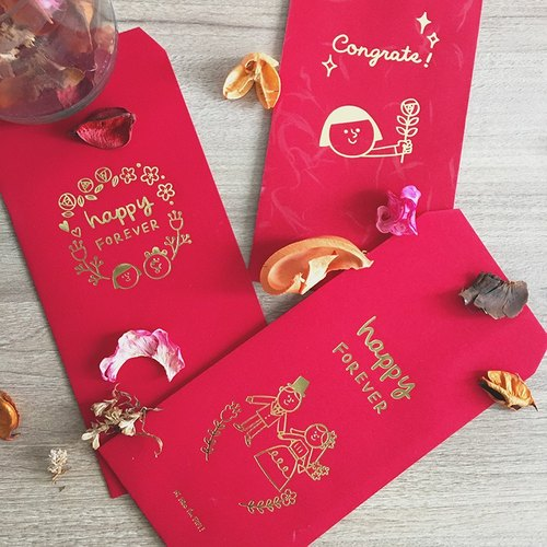 FIFI blessing red envelopes - combination package - a total of 6 into three