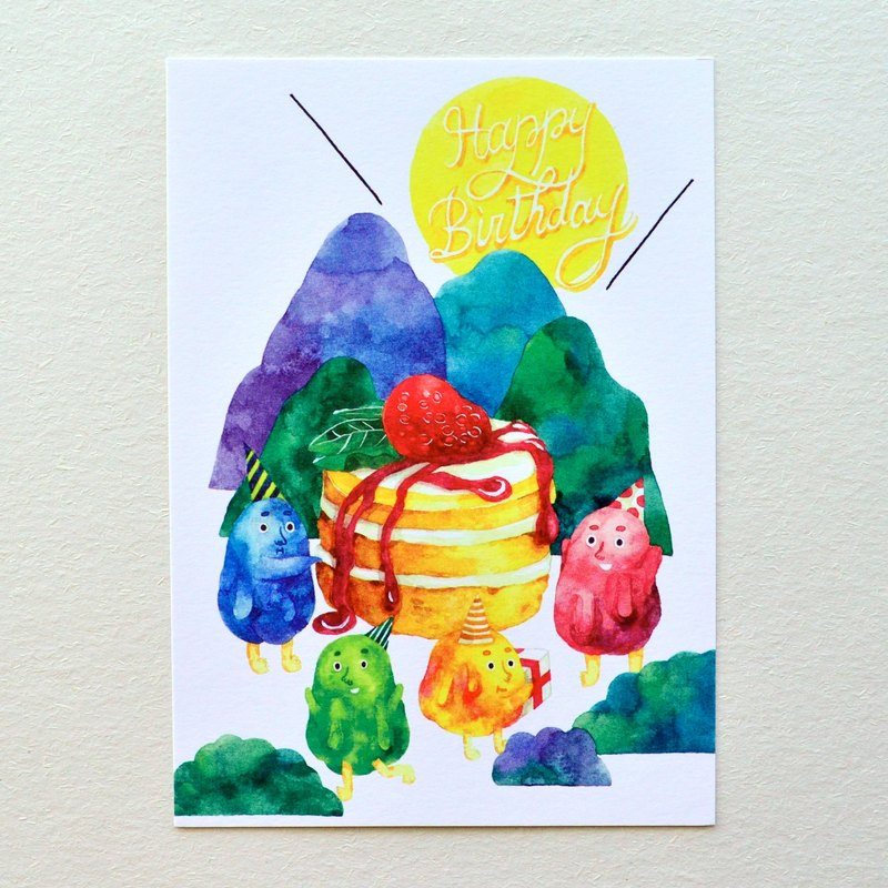 New! Happy Birthday! Postcard