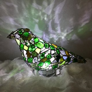 Jewel night Bird of the night world Emerald glass Bay View