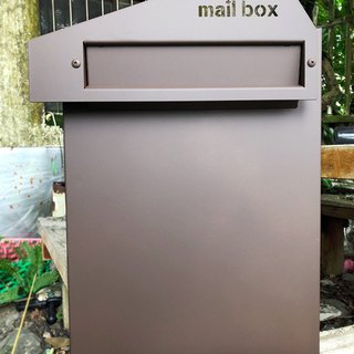 . Sharp geometric style. Stainless steel sink into the mailbox, embedded letter box Japanese-style texture, embedded-type incarcerated, the top durable fearless storm
