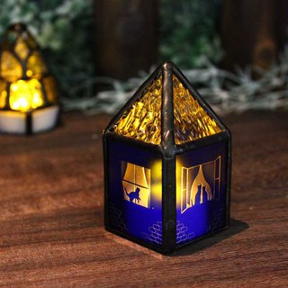 [Blue house cats are] stained glass mini-lamp (with LED light)
