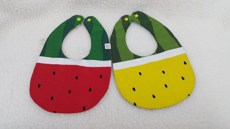 西瓜好甜  飯糰兜/寶寶圍兜/口水巾