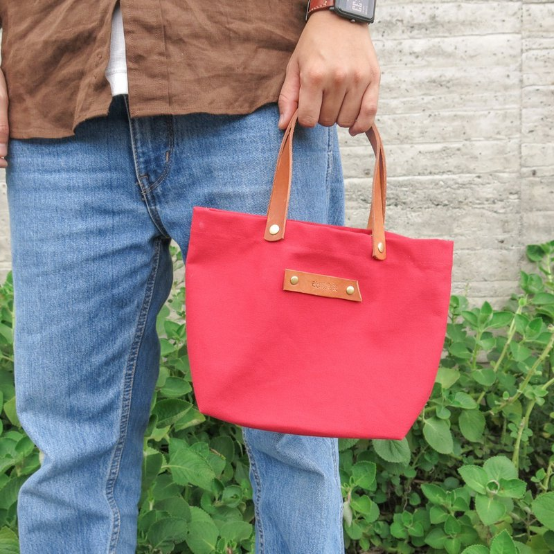 Pi sail small bag - ruby ​​red can be used as a meal bag, easy to go out the bag [change tide change bag]