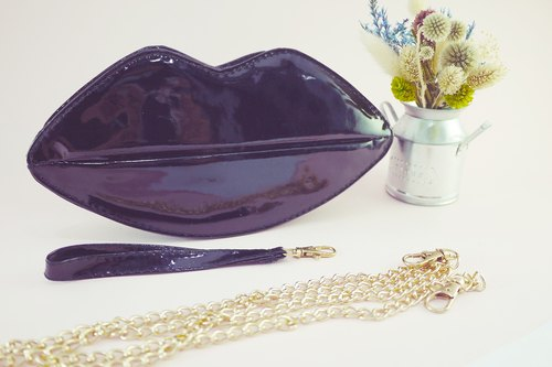 【Kizandy】 sweet heart lips package candy group - black lip bag