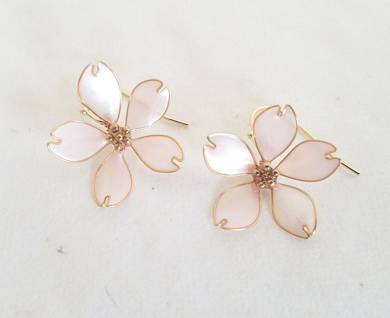 cherry blossom simple pierced/clip-on earrings