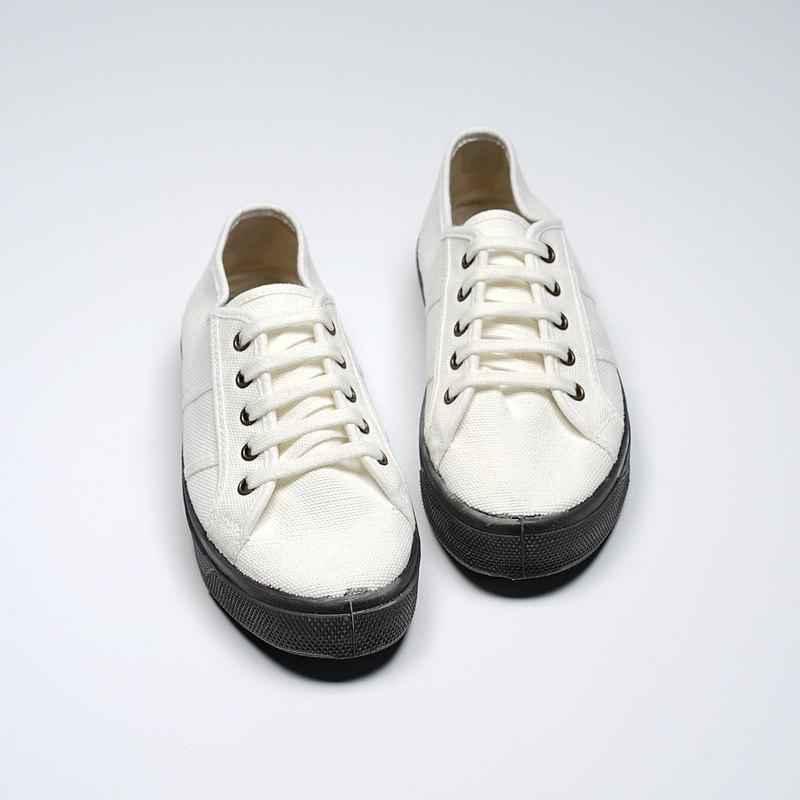 西班牙國民帆布鞋 CIENTA U15997 05 白色 黑底 經典布料 大人 繫