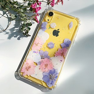 Romantic Sea of pastel:: pressed flower iphone case