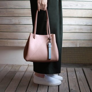Small Tote Bag-nude pink