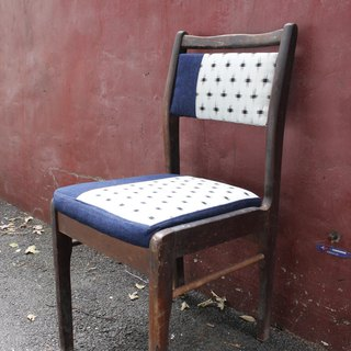 Old chair fresh wooden new stretch patch chair