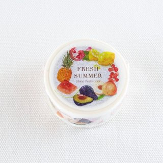Summer fruits trails Shine Original watercolor paper tape 10 meters x2cm