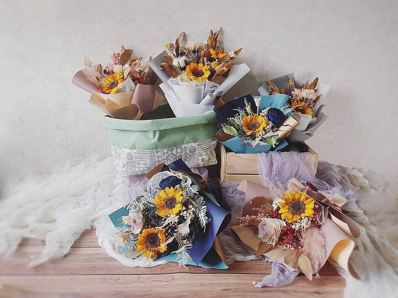 夢想花束3色_乾燥花 教師節 紀念日 升遷 祝賀