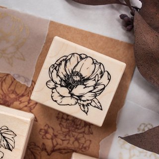 Pre-order - tuft flower - maple seal - peony