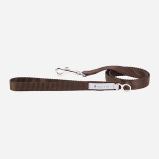 [Tail and me] classic nylon belt leash dark brown