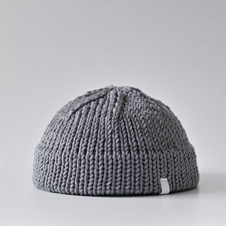 K004 Hand-knitted Ultra Short Cap Hat Sailor Cap - Grey