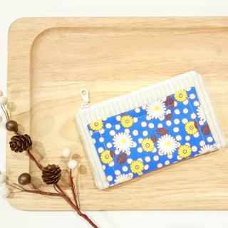 [FXS/ Four Degree Space Coin Purse] Small Daisy. Blue x Yellow
