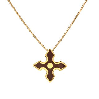 Chivalry Gawain filigree enamel necklace (gold) -18,212,151,118