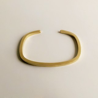 [Original color] hand-made brass square bracelet