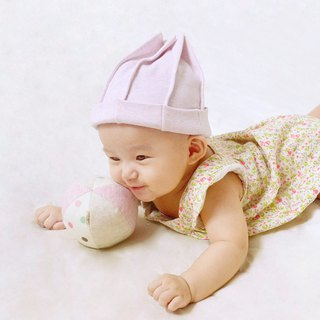 Brushed Knit Baby Hat - Light Pink