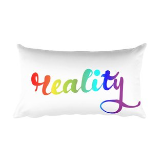 Rectangular Pillow w/ Stuffing - Reality (Rainbow)