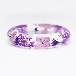 FlowerSays / PurpleWorld - Real Flower Bracelet / PurpleCollection / Eternal Flo
