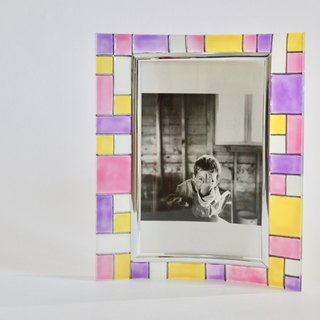 Pastel Soft Colours Geometric Photo Frame・Personalised Handmade Friendship Gift