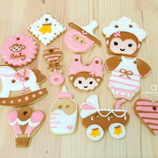 Sweet Little Monkey Baby income salivary sugar cookie 12 group by anPastry