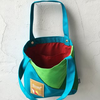 Tote mixed colors (green line)