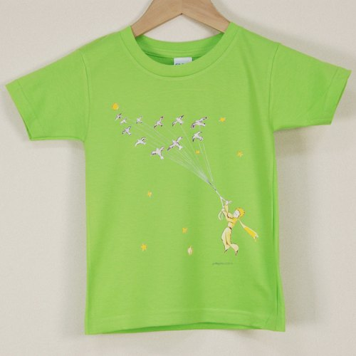"Little Prince Classic Edition Authorized - T-shirt: [take me to travel] short-sleeved T-shirt ""children"" (white / pink / water blue)"