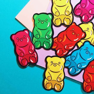 Bear icing candy front - combination / sticker