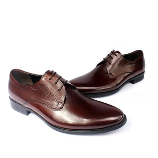 Sixlips simple plain Derby shoes V-Front coffee