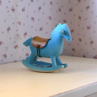 Rocking horse treasure box [sky blue]