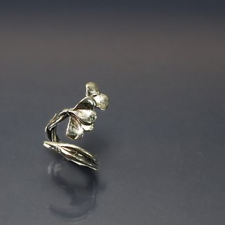 Ginkgo Wrapped 925 Silver Ring
