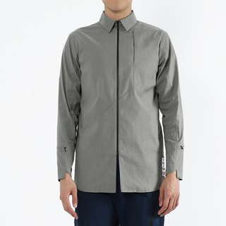 Go Uphill - Zipper Zip Shirt - Grey Green