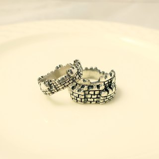 Fancy Moon*Our Castles‧ Castle Ring*Ring * 925 Sterling Silver