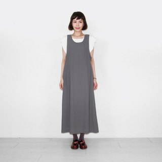 Grey chiffon vintage camisole long skirt BL6018