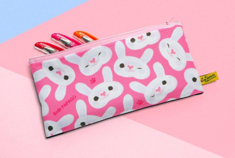 白兔兔網布扁型筆袋