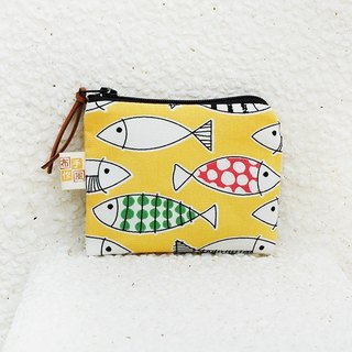 Colorful Fish Coin Bag _ Yellow