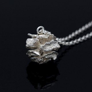 Cone Fruit Silver Necklace - Nature Plant