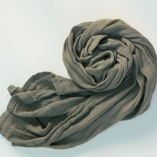 Collagen scarf with natural dye -(Ebony/Dark grey)
