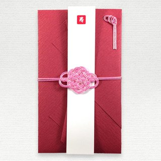 Pink color changes to madder color Flower Awaji Concatenation gift bag