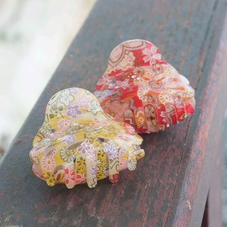 Sakura, dance, flower baskets empty, shark clip, catch clip, hairpin - two-color