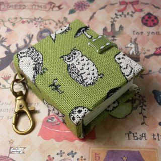 [Owl family] 2 colors (green) mini small phase key ring 5cmX4.3cm - custom small things