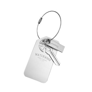 Matchwood Design Matchwood Multifunction Key Metal Luggage Tag Keyring Extinction Silver