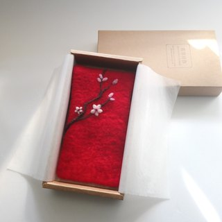 Peach / wool felt bag [birthday gift / New Year red envelope / Valentine's Day gift]