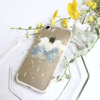 Cloud light flower clear:: dry flower transparent mobile phone case