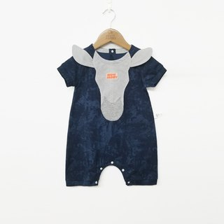 Original design pony shape baby summer romper baby short-sleeved jumpsuit full moon package fart clothing